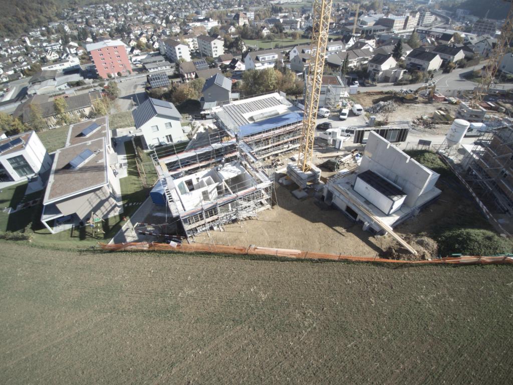 Blick auf die Überbauung Unterfeldstrasse