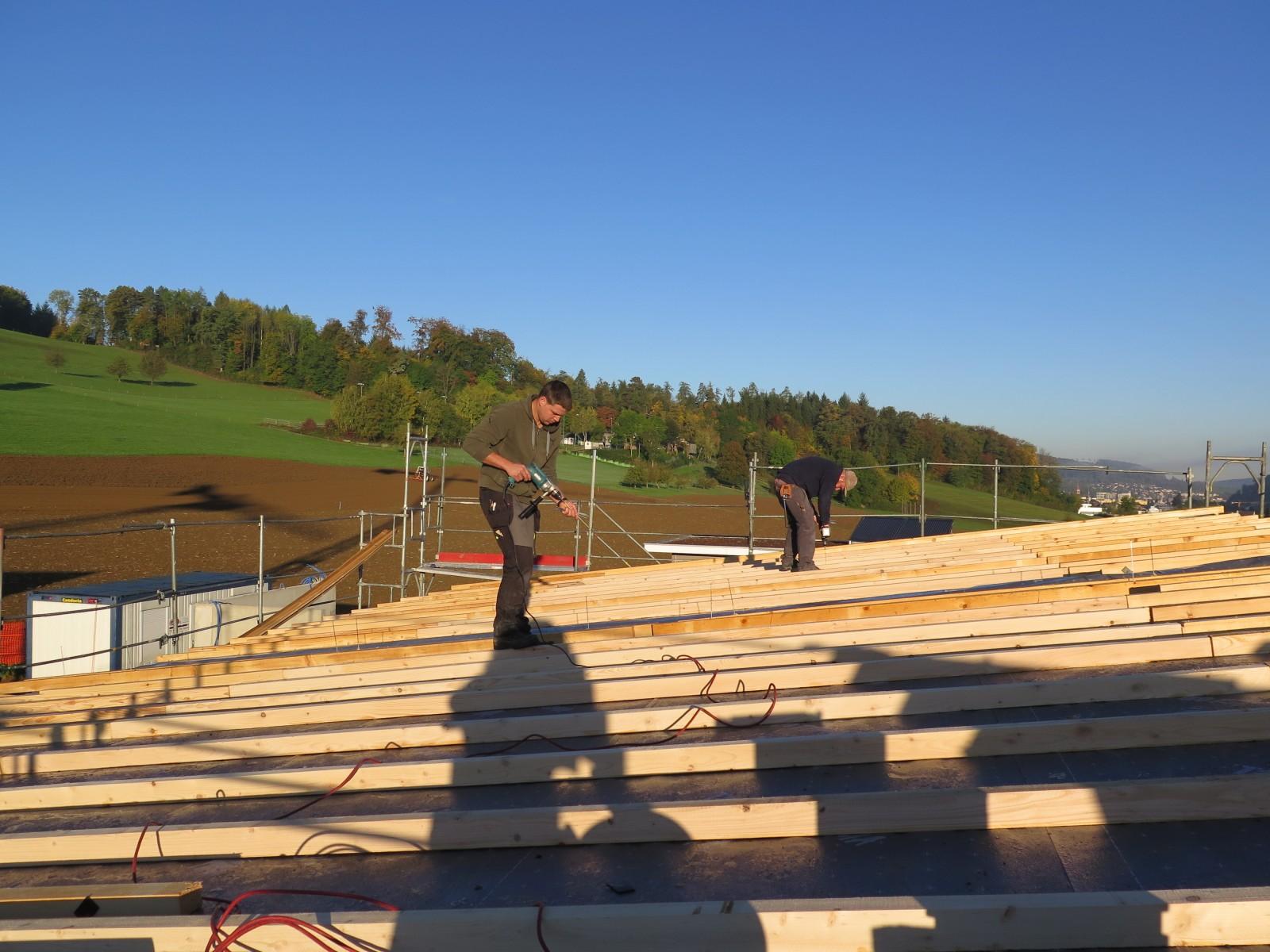 Unsere Dachdecker im Einsatz
