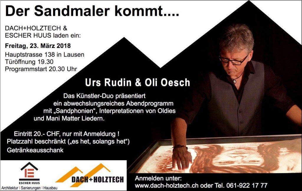Einladung - Sandmaler LIMA 08.02.18