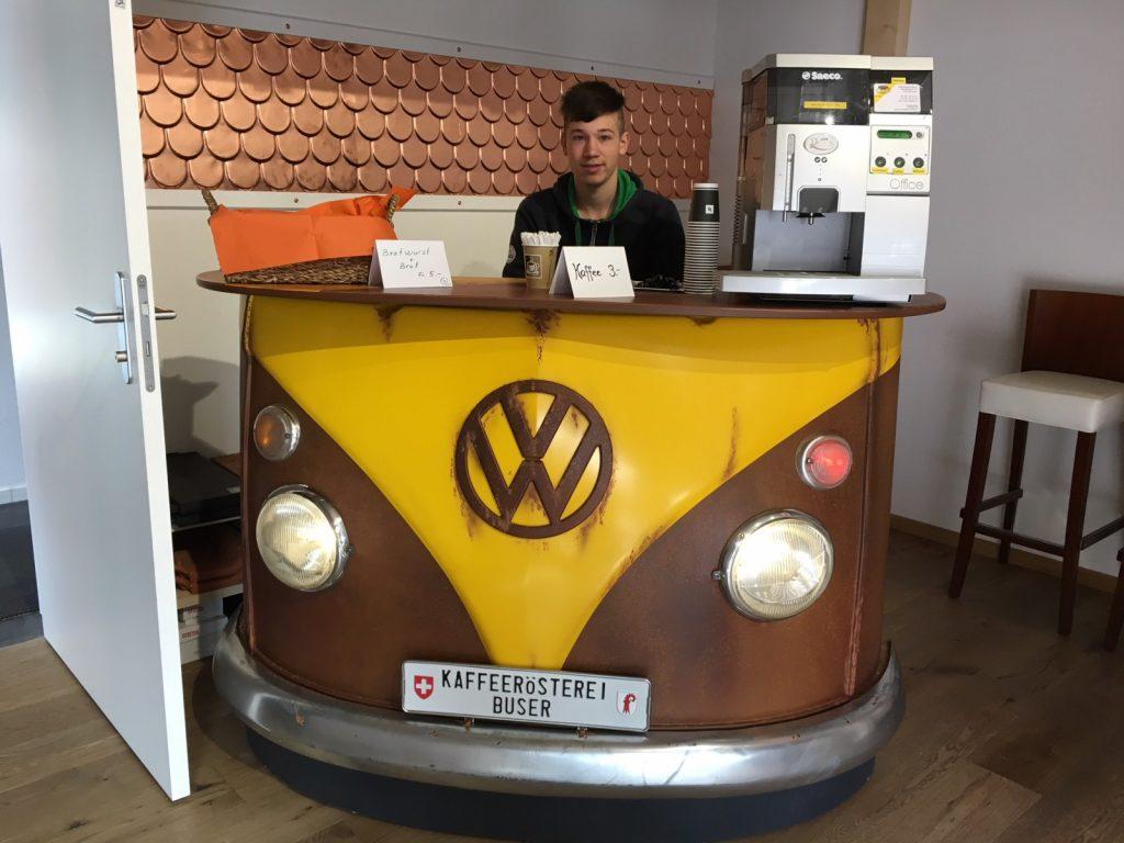 Feinster Kaffee von der VW-Bar