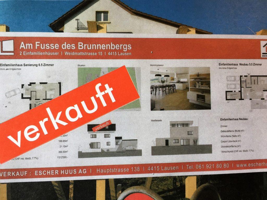 Das Haus links wurde inzwischen verkauft!