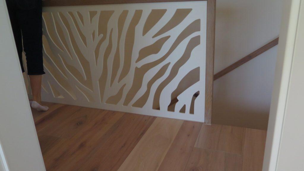 Treppengeländer mit Eichenhandlauf